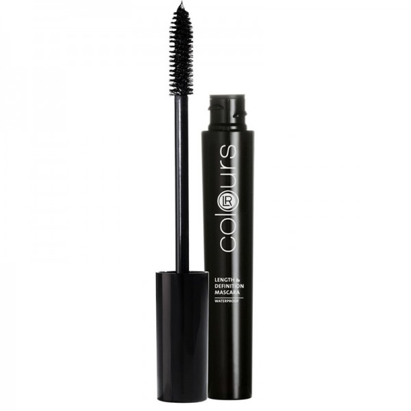 Colours Length & Definition Αδιάβροχη Mascara Absolute Black